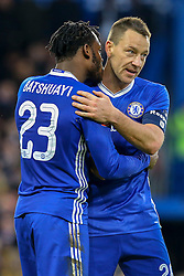 Goal, Michy Batshuayi of Chelsea scores from the penalty spot, congratulated by John Terry of Chelsea - Mandatory by-line: Jason Brown/JMP - 28/01/2017 - FOOTBALL - Stamford Bridge - London, England - Chelsea v Brentford - Emirates FA Cup fourth round