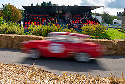 Boness Revival hillclimb motorsport event in Boness, Scotland, UK. The 2019 Bo'ness Revival Classic and Hillclimb, Scotland's first purpose-built motorsport venue, it marked 60 years since double Formula 1 World Champion Jim Clark competed here.  It took place Saturday 31 August and Sunday 1 September 2019. 37. Mel Chisholm. Ford Anglia Super.