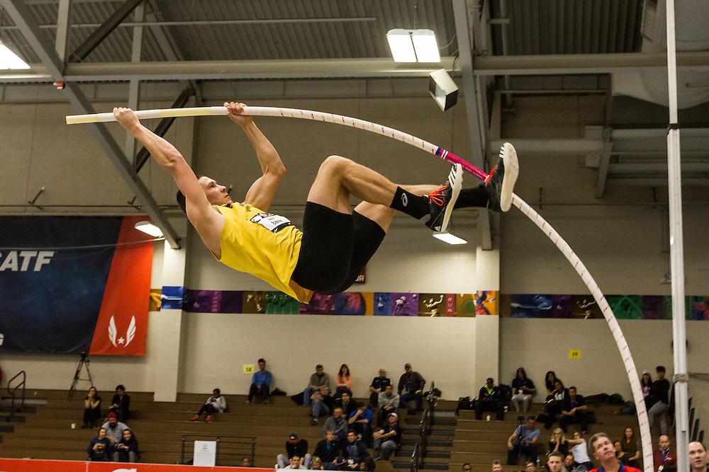 USATF Indoor Track & Field Championships: men heptathlon pole vault Austin Bahner