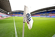 Bolton Wanderers flag before the EFL Trophy match between Bolton Wanderers and Bradford City at the University of  Bolton Stadium, Bolton, England on 3 September 2019.