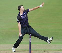 James Fuller of Gloucestershire bowls  - Photo mandatory by-line: Dougie Allward/JMP - Mobile: 07966 386802 - 14/07/2015 - SPORT - Cricket - Cheltenham - Cheltenham College - Natwest T20 Blast