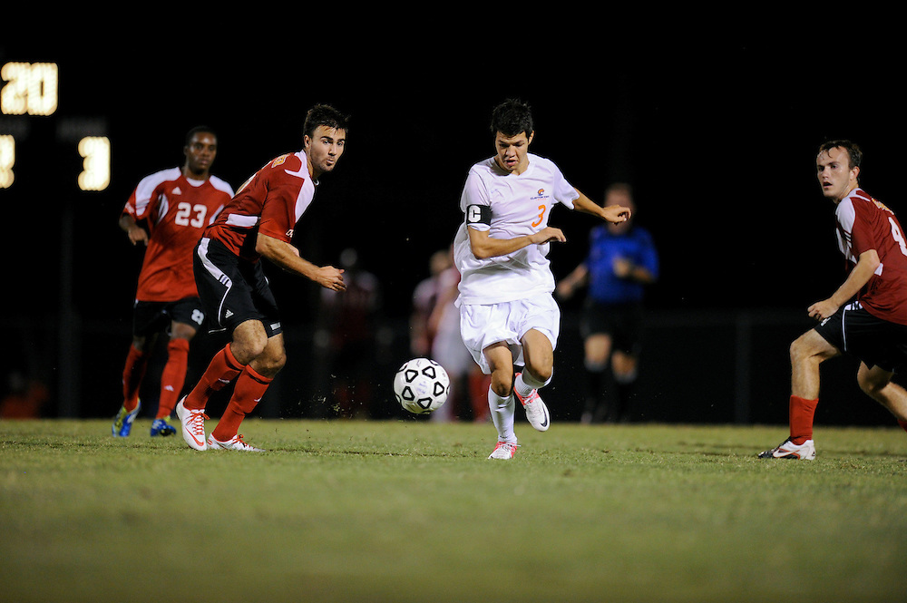 Sept. 15, 2012; Morrow, GA, USA; Clayton State men's soccer player Kevin Rodriguez against Flagler at CSU. Photo by Kevin Liles/kdlphoto.com