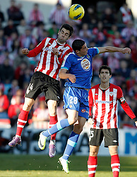 08.01.2012, Stadion Coliseum Alfonso Perez, Getafe, ESP, Primera Division, FC Getafe vs Athletic Bilbao, 18. Spieltag, im Bild Getafe's Abdel Barrada against Athletic de Bilbao's Markel Susaeta // during the football match of spanish 'primera divison' league, 18th round, between FC Getafe and Athletic Bilbao at Coliseum Alfonso Perez stadium, Getafe, Spain on 2012/01/08. EXPA Pictures © 2012, PhotoCredit: EXPA/ Alterphotos/ Alvaro Hernandez..***** ATTENTION - OUT OF ESP and SUI *****