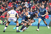 Sale Sharks Bryn Evans during the Gallagher Premiership Rugby match between Sale Sharks and Worcester Warriors at the AJ Bell Stadium, Eccles, United Kingdom on 9 September 2018.
