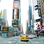 Yellow cabs in Times Square