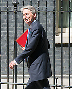 © Licensed to London News Pictures. 10/06/2014. Westminster, UK Philip Hammond, Conservative MP, Secretary of State for Defence, arrives at Cabinet 10th June 2014. Photo credit : Stephen Simpson/LNP