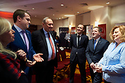 Warsaw, Poland - 2017 March 12: (L-R) Katarzyna Frank Niemczycka former President of Special Olympics Poland and Witold Banka Minister of Sports Departament and Andrzej Krasnicki President of Polish Olympic Committee and NN and Krzysztof Krukowski Special Olympics Europe Eurasia and Joanna Styczen National Director of Special Olympics Poland while Nomination Ceremony of Special Olympics Polish National Team before the Special Olympics World Winter Games Austria  2017 at Marriott Hotel on March 12, 2017 in Warsaw, Poland.<br /> <br /> Mandatory credit:<br /> Photo by &copy; Adam Nurkiewicz / Mediasport<br /> <br /> Adam Nurkiewicz declares that he has no rights to the image of people at the photographs of his authorship.<br /> <br /> Picture also available in RAW (NEF) or TIFF format on special request.<br /> <br /> Any editorial, commercial or promotional use requires written permission from the author of image.<br /> <br /> Image can be used in the press when the method of use and the signature does not hurt people on the picture.