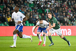 February 13, 2019 - Saint Etienne, France - 27 ROBERT BERIC (ASSE) - 13 STEFAN MITROVIC  (Credit Image: © Panoramic via ZUMA Press)