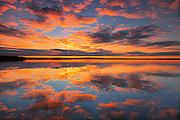 Morning reflection in Namekus Lake<br /> Prince Albert National Park<br /> Saskatchewan<br /> Canada