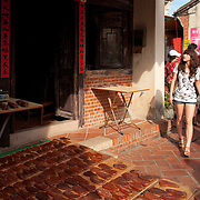 "Wuyu Tz dries in Nine-turns Lane, Lugang's ""old street"", Lugang, Changhua County, Taiwan"