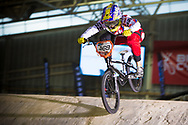 #469 (HERNANDEZ Stefany) VEN at the 2014 UCI BMX Supercross World Cup in Manchester.