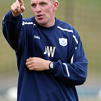 St Johnstone Training...06.08.04<br />Coach Jim Weir during training this morning.<br />see story by Gordon Bannerman Tel: 01738 553978 or 07729 865788<br />Picture by Graeme Hart.<br />Copyright Perthshire Picture Agency<br />Tel: 01738 623350  Mobile: 07990 594431