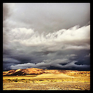 Storm clouds gathering over Millers Canyon, Utah