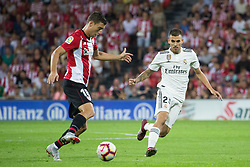 September 15, 2018 - De Marcos of Athletic Club and Ceballos of Real Madrid in action during the match played in Anoeta Stadium between Athletic Club and Real Madrid CF in Bilbao, Spain, at Sept. 15th 2018. Photo UGS/AFP7 (Credit Image: © AFP7 via ZUMA Wire)