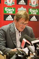 LIVERPOOL, ENGLAND - Thursday, April 30, 2009: Former Liverpool player and manager Kenny Dalglish at Anfield for the launch of the Hillsborough Memorial game. The match will be between a Liverpool FC legends side and a team off 'All Stars' at Anfield on May 14. (Photo by David Rawcliffe/Propaganda)