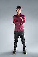 Portrait of South Korean soccer player Yoon Bit-garam of Yanbian Funde F.C. for the 2017 Chinese Football Association Super League, in Namhae County, South Gyeongsang Province, South Korea, 11 February 2017.