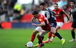 Jamie Paterson of Bristol City under pressure from Alex Mowatt of Barnsley-Mandatory by-line: Nizaam Jones/JMP - 18/01/2020 - FOOTBALL - Ashton Gate - Bristol, England - Bristol City v Barnsley - Sky Bet Championship
