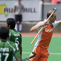 MELBOURNE - Champions Trophy men 2012<br /> Pakistan v Netherlands <br /> foto: Billy Bakker scores.<br /> FFU PRESS AGENCY COPYRIGHT FRANK UIJLENBROEK