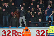 Millwall fans taunt Leeds United Fans during the EFL Sky Bet Championship match between Leeds United and Millwall at Elland Road, Leeds, England on 20 January 2018. Photo by Craig Zadoroznyj.