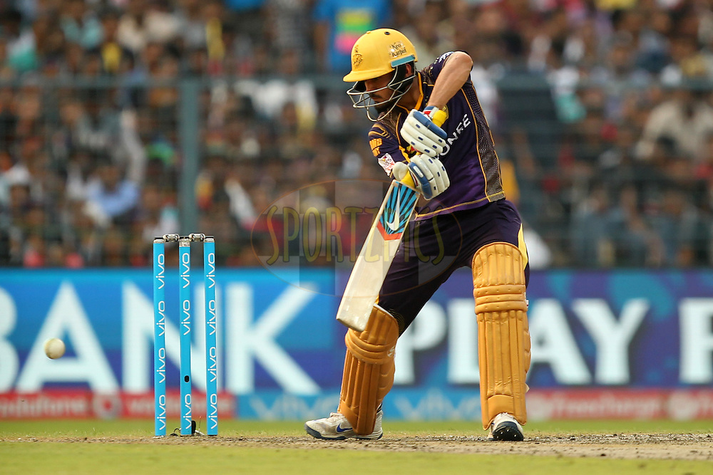 Manish Pandey of  Kolkata Knight Riders in action during match 55 of the Vivo Indian Premier League ( IPL ) 2016 between the Kolkata Knight Riders and the Sunrisers Hyderabad held at the Eden Gardens Stadium in Kolkata on the 22nd May 2016Photo by Prashant Bhoot / IPL/ SPORTZPICS