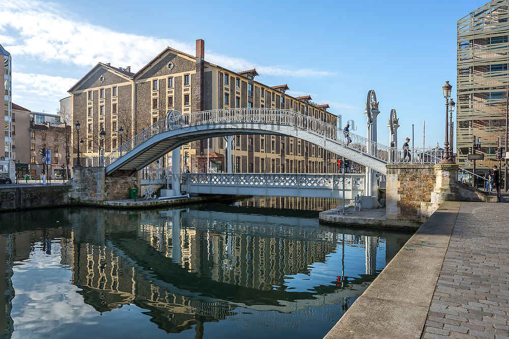 Pont-levant du canal de l'Ourcq // Ourcq canal bascule bridge