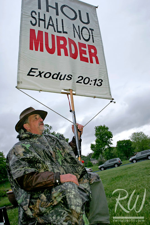 Anti-Abortion Protester at the 2006 University of Iowa Carver School of Medicine Commencement Ceremony, Iowa City, Iowa