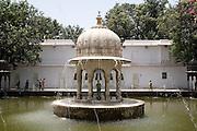 India, Rajasthan, Udaipur Saheliyon Ki Bari gardens, built for the women of Maharana Sangram Singh II in the 18th century.