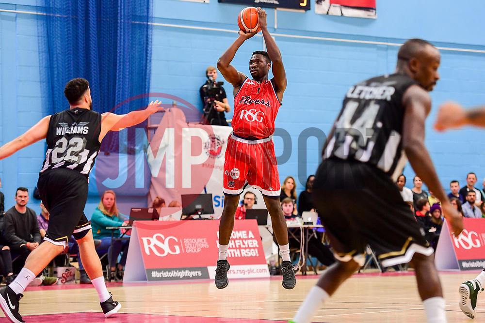 Daniel Edozie of Bristol Flyers - Photo mandatory by-line: Ryan Hiscott/JMP - 03/11/2018 - BASKETBALL - SGS Wise Arena - Bristol, England - Bristol Flyers v Newcastle Eagles - British Basketball League Championship