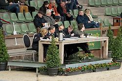 Voorstelling op harde bodem, Jury, De Smet Stfaan, Bode Herman, Van den Broeck Herman, Meurrens Inge <br /> Hengsten keuring BWP - Koningshooikt 2017<br /> © Dirk Caremans<br /> 27/12/2016