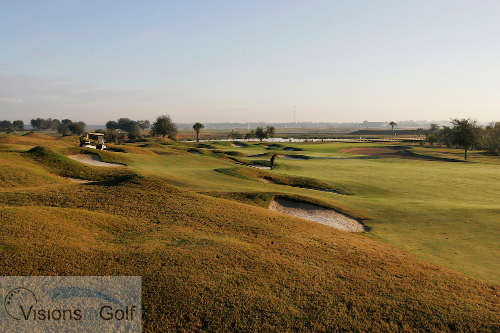The 6th hole at The International Course, Champions Gate, Florida USA. Designed by Greg Norman<br /> <br /> Photo Mark Newcombe