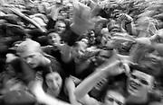 Lively festival gig crowd W. Australia 1990's