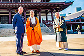 Prince Charles visits the Zojoji Temple