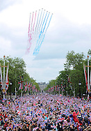 "QUEEN DIAMOND JUBILEE.The massed crowds around Buckingham Palace that turned out to witness the procession and flypast in celebration of the Queen's Diamond Jubilee_5th June 2012.Mandatory Credit Photo: ©S Hughes/NEWSPIX INTERNATIONAL..**ALL FEES PAYABLE TO: ""NEWSPIX INTERNATIONAL""**..IMMEDIATE CONFIRMATION OF USAGE REQUIRED:.Newspix International, 31 Chinnery Hill, Bishop's Stortford, ENGLAND CM23 3PS.Tel:+441279 324672  ; Fax: +441279656877.Mobile:  07775681153.e-mail: info@newspixinternational.co.uk"