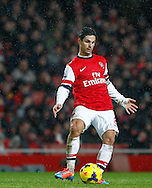 Picture by Mike  Griffiths/Focus Images Ltd +44 7766 223933<br /> 01/01/2014<br /> Mikel Arteta of Arsenal during the Barclays Premier League match at the Emirates Stadium, London.