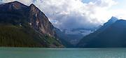 Panoramic view of Lake Louise, Banff National Park, Alberta, Canada