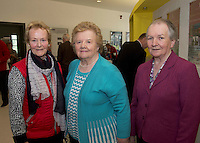 Mary Dunne, Isabella Carter  and Frances Carter from Moycullen Active Retirement at NUIG for the launch of the Galway Age Friendly Strategy, which sets out a plan to make Galway City and County a great place in which to grow up and grow old. The Strategy was developed following extensive consultation with older people across the city and county and aims to ensure that older people continue to be supported to play an active role in their communities. The launch of the strategy is an important milestone as it sets out a blueprint for how we will plan and develop communities in the coming years to ensure that Galway is a truly great place in which to grow up and grow old. Photo:Andrew Downes