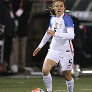 Kelley O'Hara, USA, in action during the USA Vs Colombia, Women's International friendly football match at the Pratt & Whitney Stadium, East Hartford, Connecticut, USA. 6th April 2016. Photo Tim Clayton