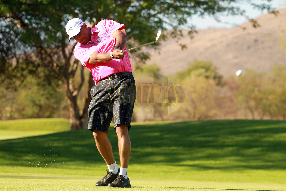 Jay Pillay during the second round of the Sanlam Cancer Challenge Finals held at the Gary Player Golf Club in Sun City near Johannesburg on the 22nd October 2013. Photo by Jacques Rossouw - SPORTZPICS