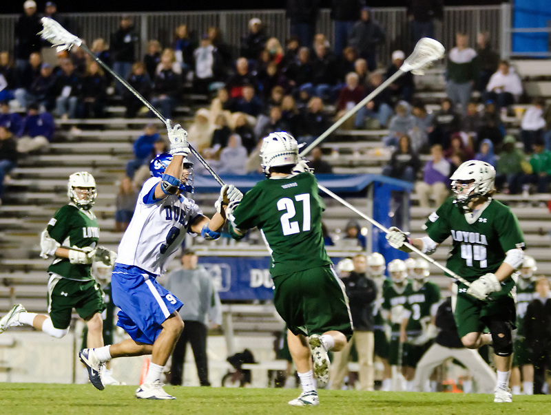 Duke defeats Loyola  14 - 9 at Koskinen  Stadium ,Durham NC.