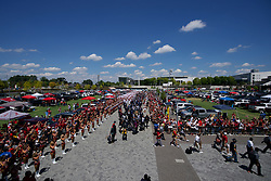 Alabama Crimson Tide team walk prior to the Chick-fil-A Kickoff Game at the Mercedes-Benz Stadium, Saturday, August 31, 2019, in Atlanta. Alabama won 42-3. (Paul Abell via Abell Images for Chick-fil-A Kickoff)