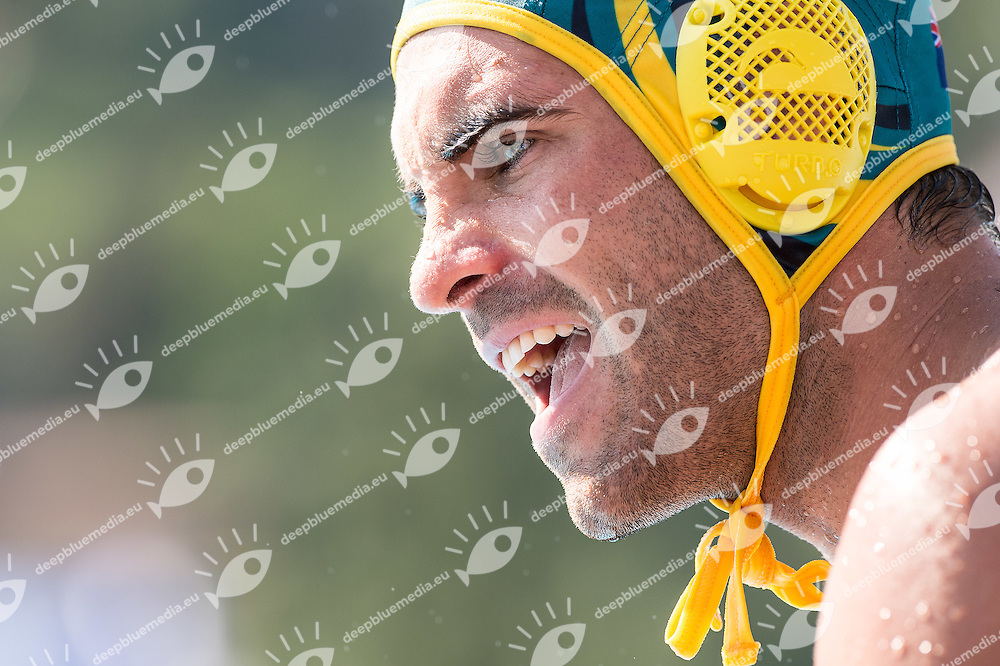 10 MARTIN Tyler AUS<br /> Brazil BRA (white) - Australia AUS (green)<br /> day 04 - 26/06/2015<br /> FINA Water Polo World League Superfinal Men<br /> Bergamo (ITA) 23-28 June 2015<br /> Photo G.Scala/Deepbluemedia