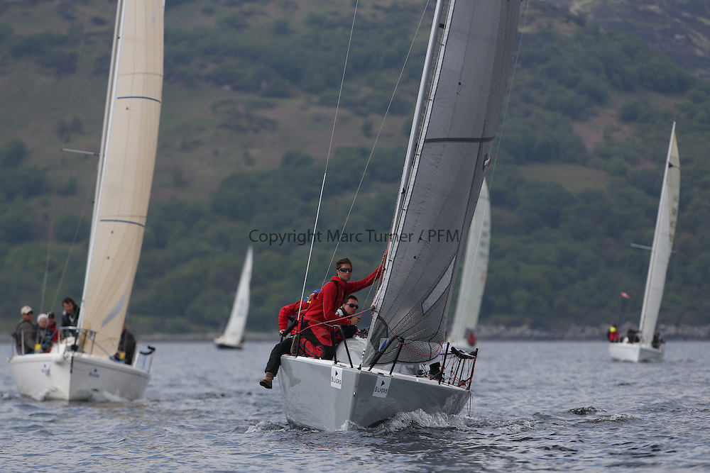 The Silvers Marine Scottish Series 2014, organised by the  Clyde Cruising Club,  celebrates it's 40th anniversary.<br /> GBR1983C, Wildebeest IV, Craig Latimer, RWYC, Brenta 24<br /> Final day racing on Loch Fyne from 23rd-26th May 2014<br /> <br /> Credit : Marc Turner / PFM