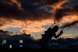 March 9, 2019 - –Stersund, Sweden - 190309 An athlete in silhouette competes in the Men's 10 KM sprint during the IBU World Championships Biathlon on March 9, 2019 in Östersund..Photo: Petter Arvidson / BILDBYRÃ…N / kod PA / 92252 (Credit Image: © Petter Arvidson/Bildbyran via ZUMA Press)
