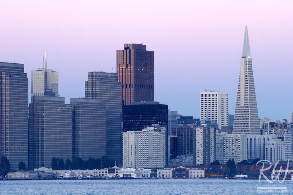 Downtown San Francisco City Skyline, Treasure Island, California