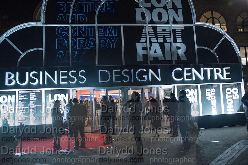 London Art Fair, Business Design Centre, Upper St. Islington. 19 January 2015