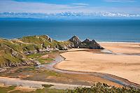 Three Cliffs Bay<br /> Gower Peninsula<br /> County of Swansea<br /> South<br /> Coastal Scenery