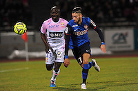 Dany NOUNKEU / Yannick FERREIRA CARRASCO  - 07.03.2015 -  Evian Thonon / Monaco -  28eme journee de Ligue 1 <br />Photo : Jean Paul Thomas / Icon Sport