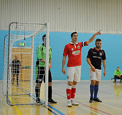 Bristol City Futsal captain gives team instructions. - Photo mandatory by-line: Nizaam Jones - Mobile: 07583 387221 - 02/11/2014 - SPORT - Futsal - Gloucester - Gloucester University - v BCFC Futsal- Sport