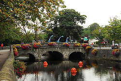 Westport in Autumn, A View of the the Mall & James Street Bridge..The Westport Arts Festival takes place at the end of September early October every year...Photograph by Conor McKeown.