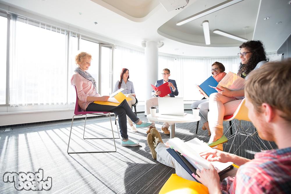 Businesspeople in meeting at office